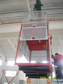 Building Double Cage Hoist Red Paited 380V 50HZ Passenger Elevator
